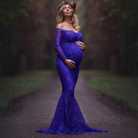 New Fashoin Maternity Dresses long Chiffon Bohemian Dress Clothes For Pregnant Party Dress Maternity Pregnancy Clothing Q101