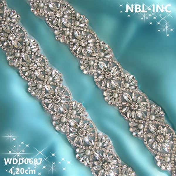 Aliexpress.com : Buy (10 YARDS)Wholesale bridal iron on hand beaded ...