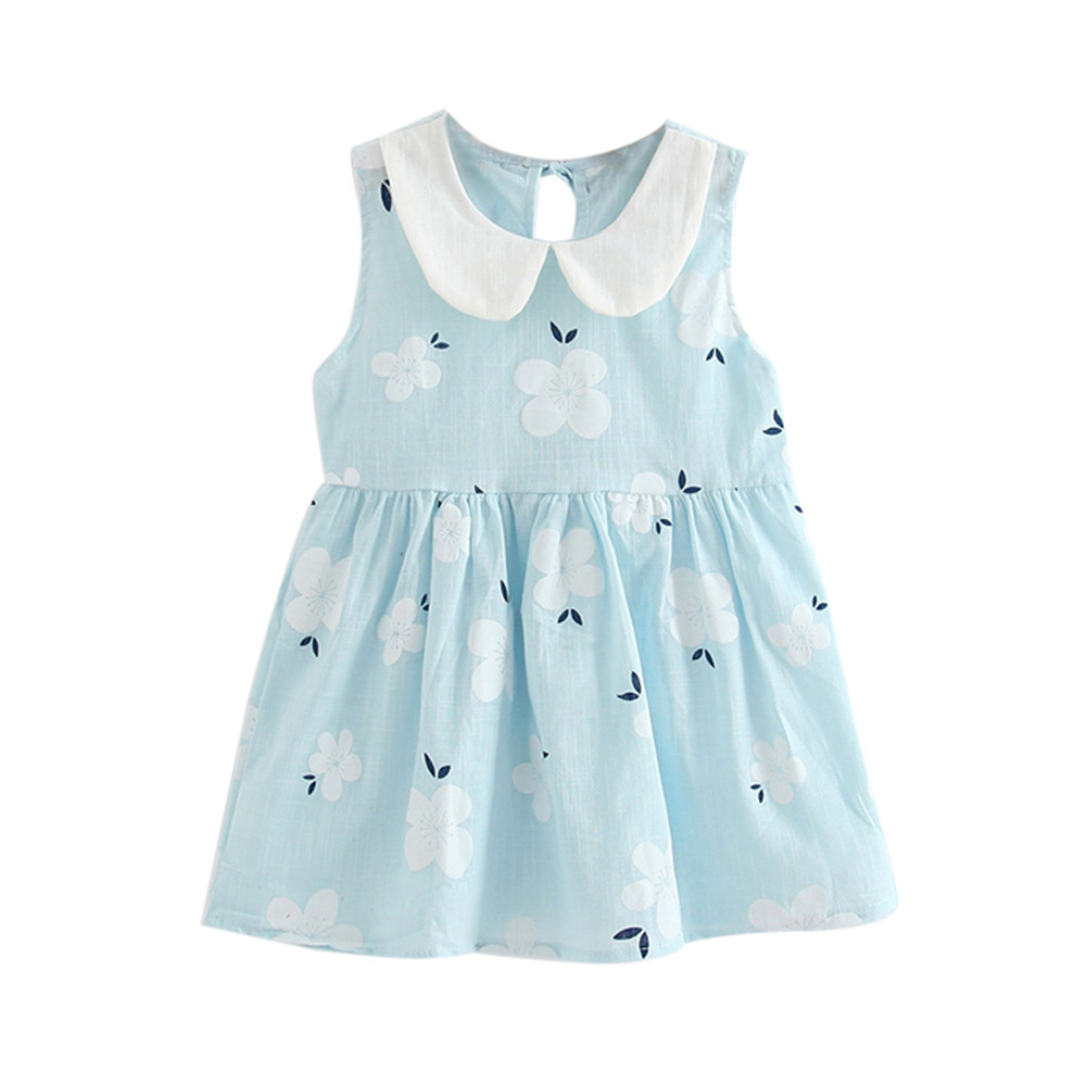 где купить Ropa Ninas 2018 Toddler kid baby Girls Summer Princess Dress Kids Baby Party Sleeveless mini party Dresses Vestido Infantil по лучшей цене