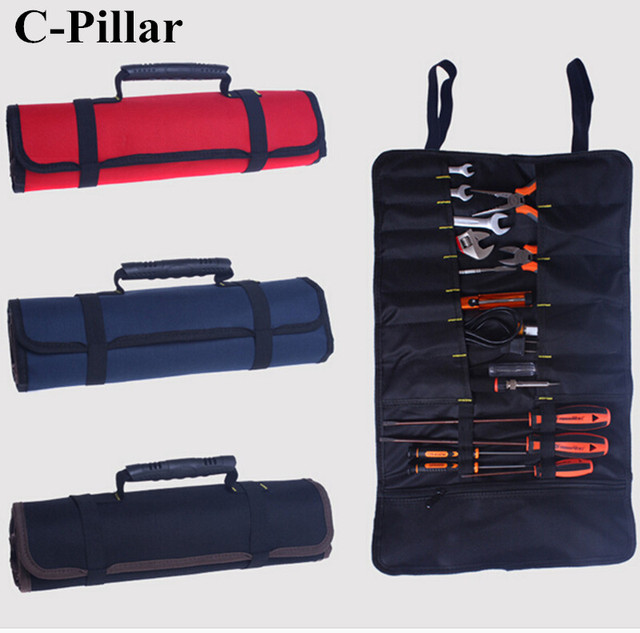 1 Pc Tools Bag Plier Driver Pocket Roll Case Pouch Holder Oxford Tool
