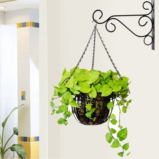 Superbe Metal Iron Chain Flower Plant/Pot/Flower Basket Holder Hanging Chain With  Hook 3
