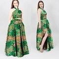 Африканский платье Способа женщин Конструкции Dashiki халаты роковые базен riche базен riche платья долго dashiki плюс размер WY699