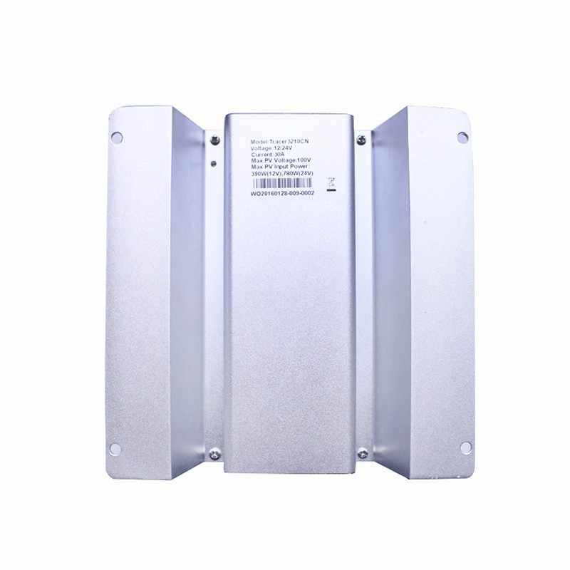 Regulador solar MPPT 20A Tracer2210CN para el sistema de carga con MT50 y sensor de temperatura + cable USB