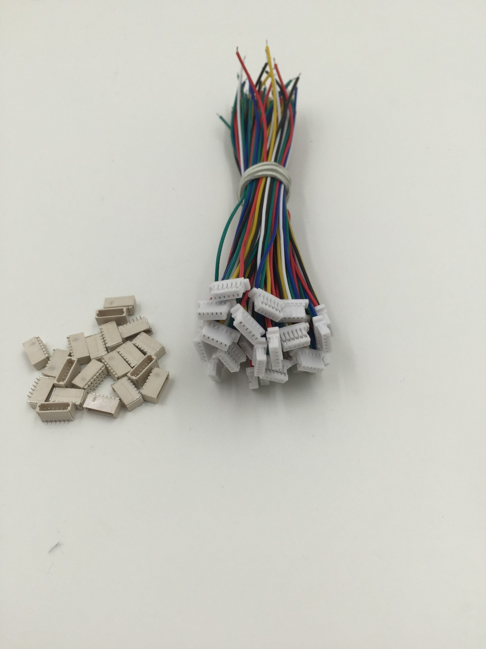 Micro Mini JST-SH 1.0mm 6-Pin SH Male Female Connector with wire 10cm x 10 SETS