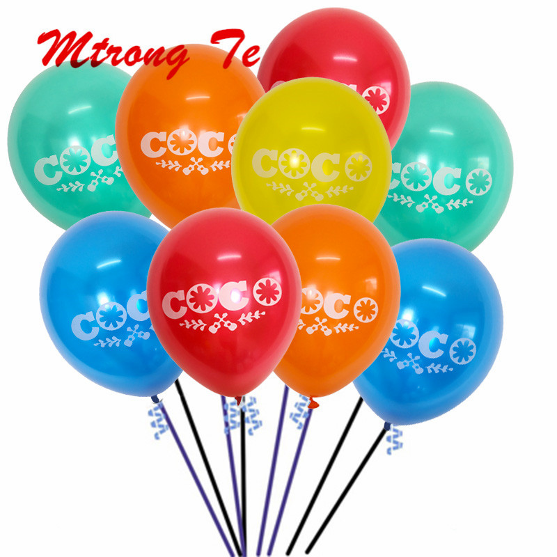 50 100pcs 10inch COCO Pearl Latex Balloon Inflatable Happy