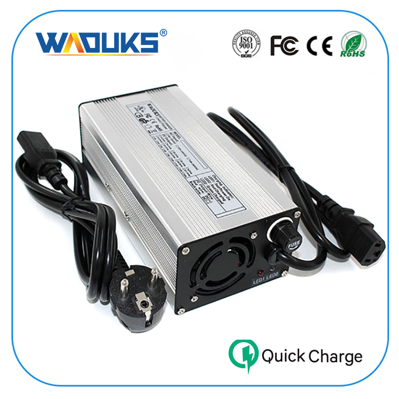 14 6V 20A Charger Fast Smart Charger Used for 4S 14 4V LiFePO4 Battery Pack Aluminum