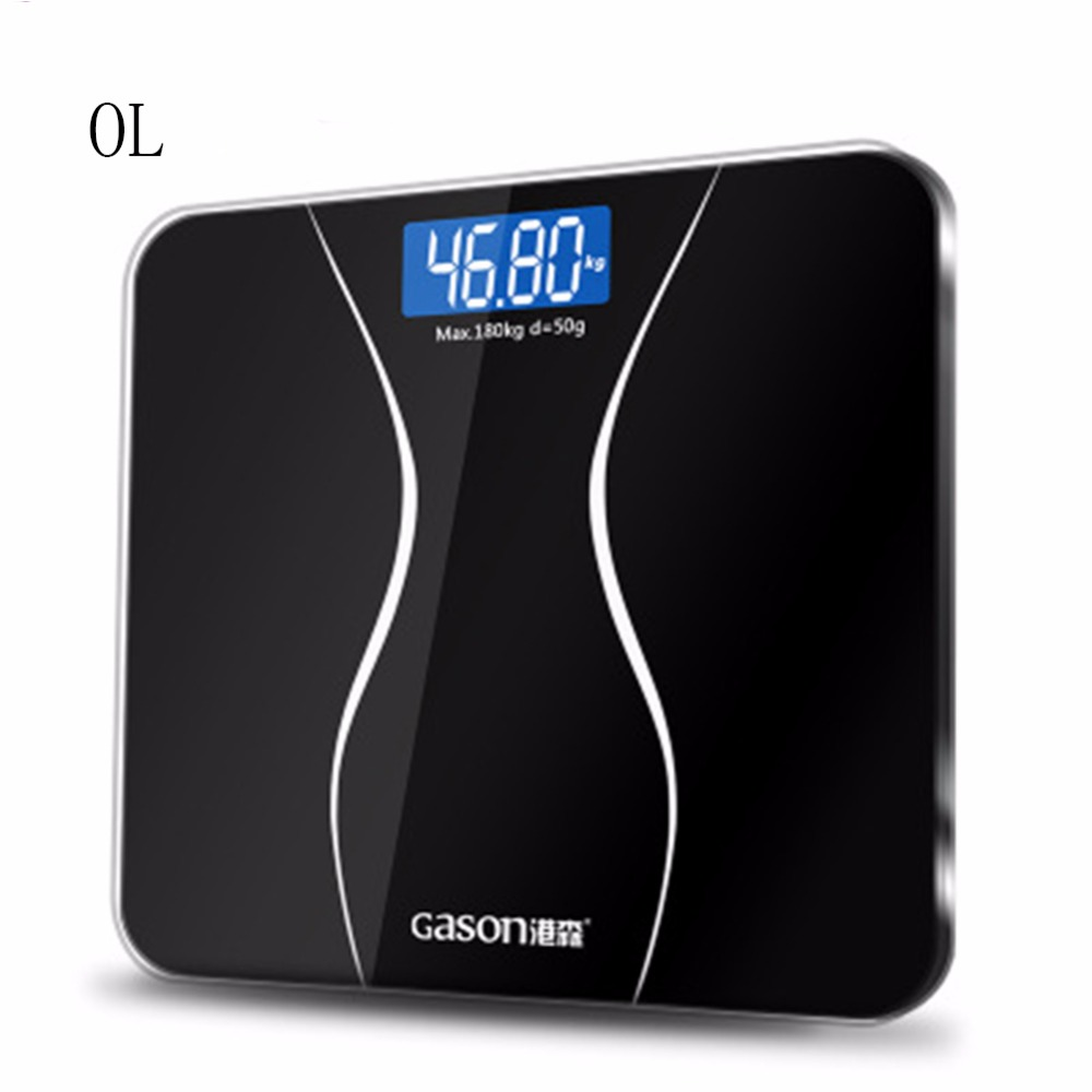 OL precision bathroom scale body smart electric digital weight family health balance tempered glass LCD monitor 180kg / 50g