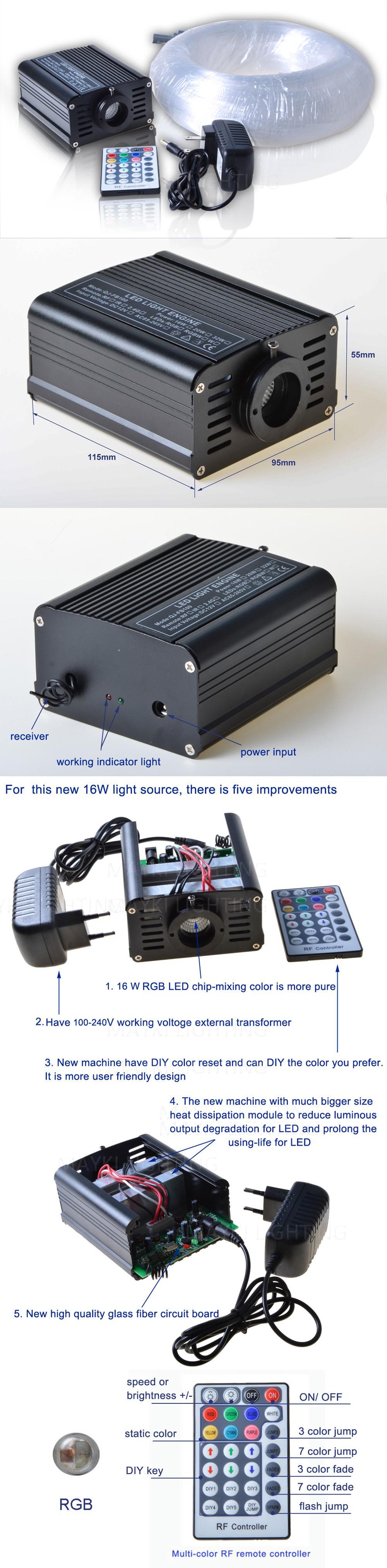 MK-L16W-2 fiber optic star ceiling kit
