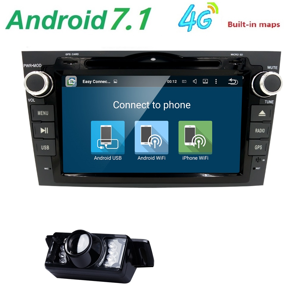 Android 7.1 HD 1024*600 Car DVD Player Radio For Honda CRV 2007 2008 2009 2010 2011 4G WIFI GPS Navigation Head Unit 2 din 2GRAM автомобильный dvd плеер joyous kd 7 800 480 2 din 4 4 gps navi toyota rav4 4 4 dvd dual core rds wifi 3g