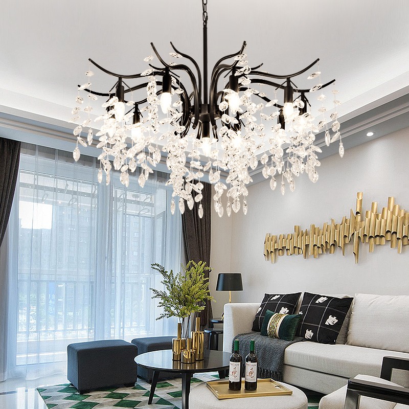 Us 109 93 31 Off Led Crystal Chandelier Home Lighting Luminaire Res De Cristal Modern Kitchen Dining Room Living Chandeliers Candelabro In
