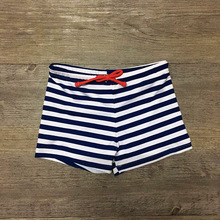 Swimming-Trunks Swimwear Bathing-Suit Striped Beach Children Sunga Kids Print for Boy