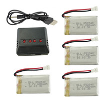 Free Shipping Syma X5C X5SW Parts 3.7V 680mAh Upgrade Battery & 4 In 1 X4 Lipo Battery USB Charger Spare Parts for Syma RC Drone