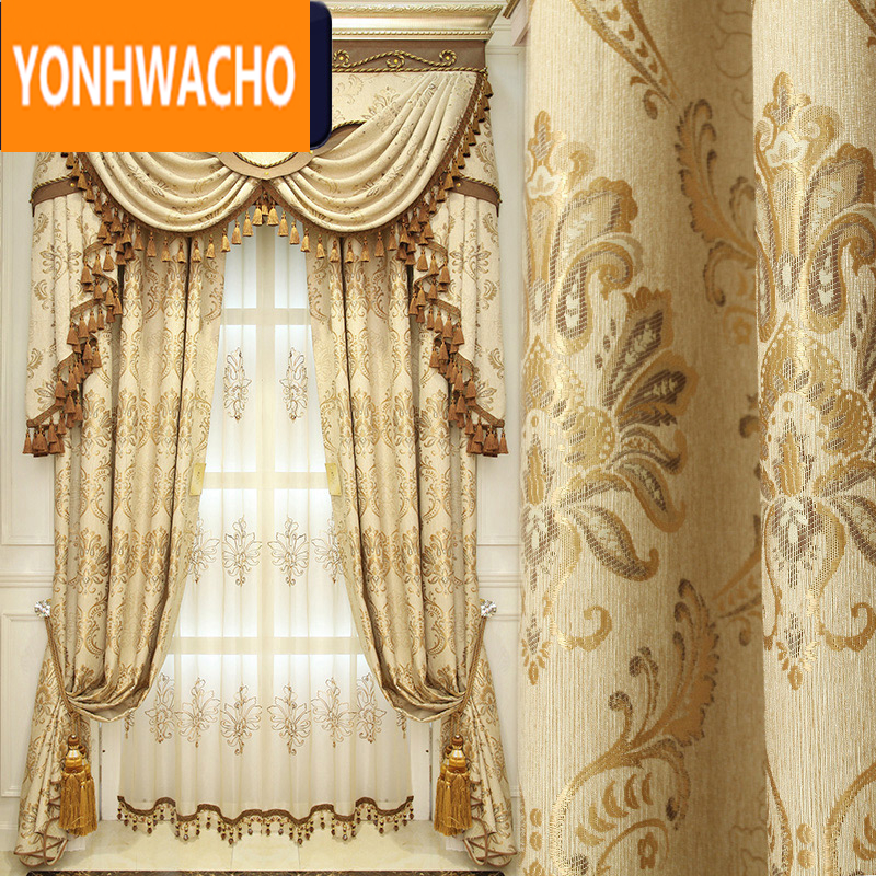 Custom Curtains Luxury European Living Room Bedroom Villa