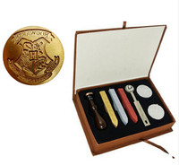 New Vintage Cool Harry Potter Hogwarts School Badge Wax Seal Stamp W Handle Set