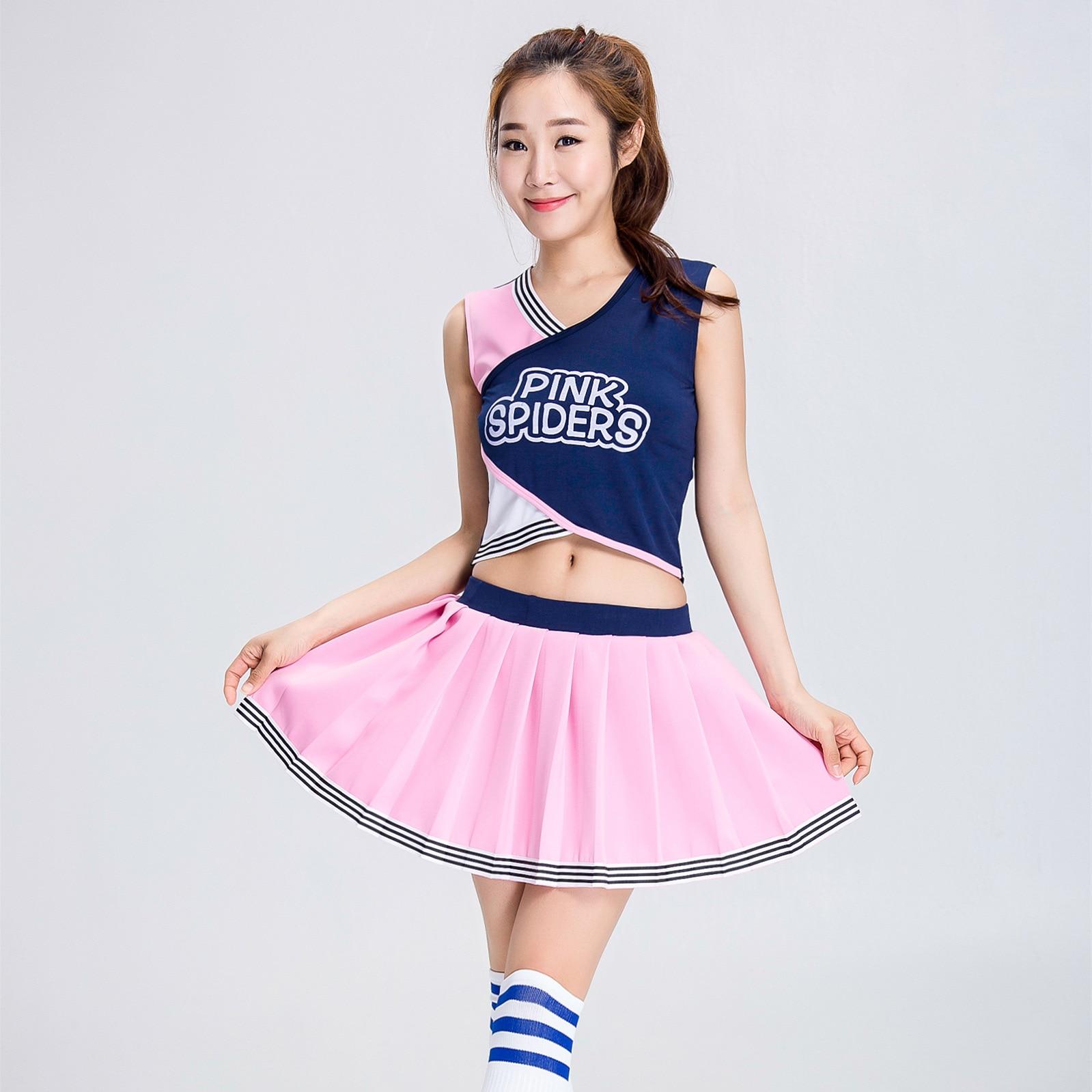 Комплект одежды для ролевых игр для девочек и девочек, одежда для взрослых, одежда для Черлидинга, спортивные костюмы для Черлидинга