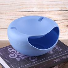 Plastic Double Layer Dry Fruit Containers Snacks Seeds Storage Box Phone Holder Stand Garbage Holder Plate Dish Organizer