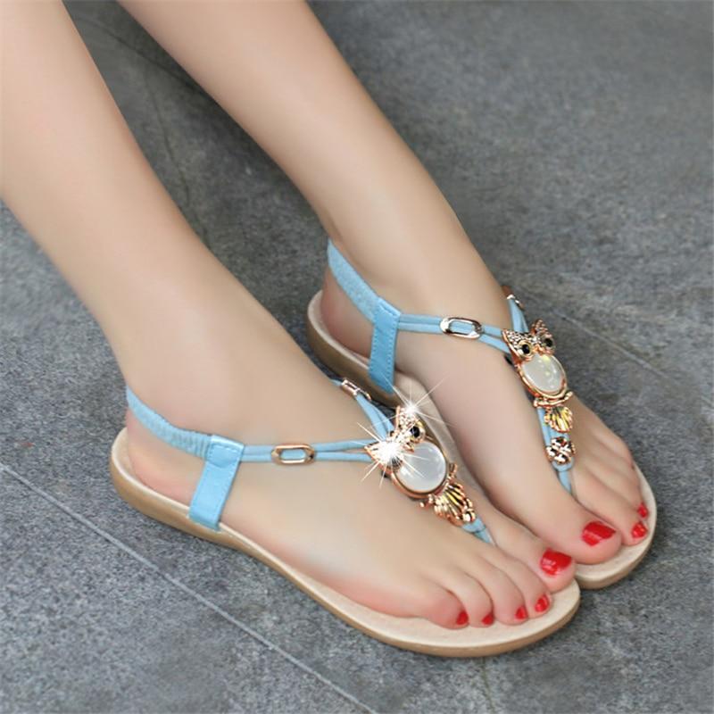Vernis YFXC 2018 mode femmes sandales chaussures d'été dames Xiang chaussures femme confort plage chaussures sandales plates-in Sandales femme from Chaussures    1