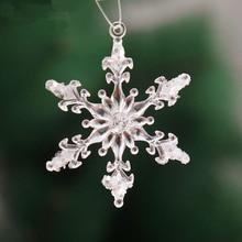 1 set 6PCS Christmas tree decorations supplies transparent sticky snowflakes decorations Christmas tree pendant adornments