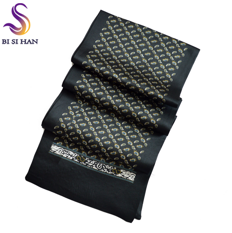 2016 New Arrival Man100% Silk Scarf Printed New Style Brand Male Scarves 160*26cm Man Scarf For Spring Autumn Winter Long Scarf