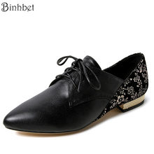 Binhbet  Genuine Leather Shoes Women Flats New Spring 2017 Fashion Women Shoes sapatos femininos sapatilhas zapatos mujer