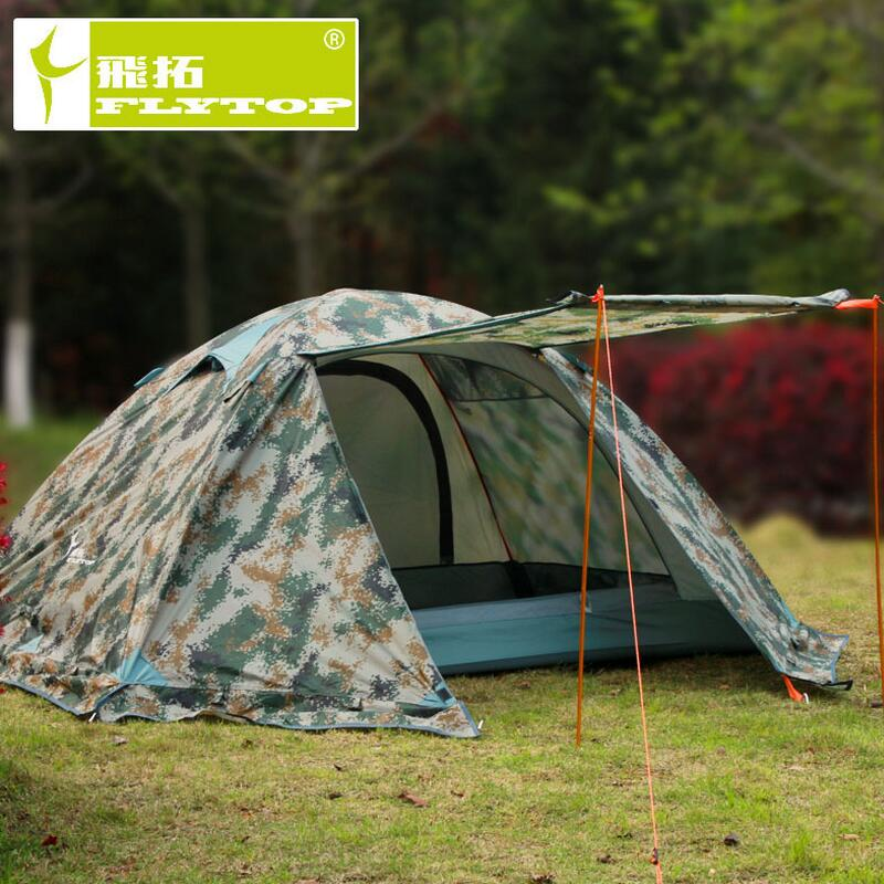 Camouflage camping tents for outdoor recreation Double outdoor camp waterproof travel tourism Camouflage tent
