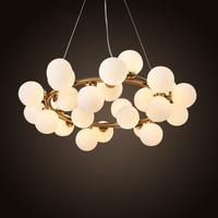 בועה חדשה מודרני אורות תליון מנורת חדר אוכל חיים LED luminaire מנורת השעיה מודרני תליית קסם שעועית זהב שחור