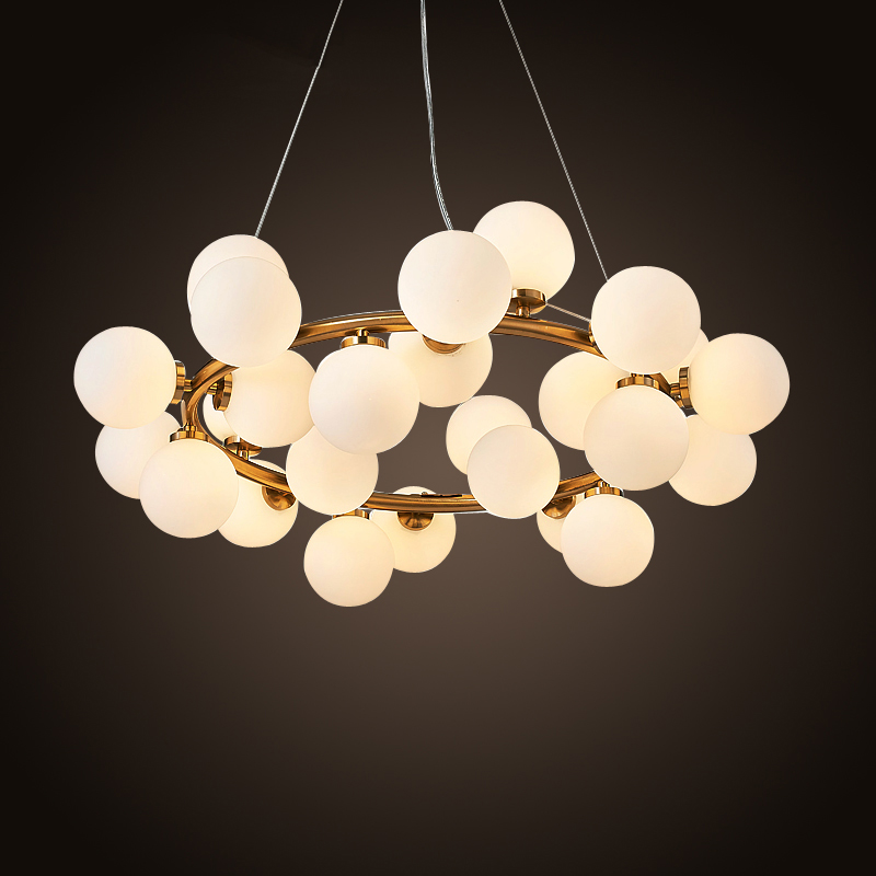 New Bubble Modern LED Pendant Lights Lamp For Living Dining Room Black Gold Magic Bean Modern Hanging suspension luminaire Lamp a1 master bedroom living room lamp crystal pendant lights dining room lamp european style dual use fashion pendant lamps