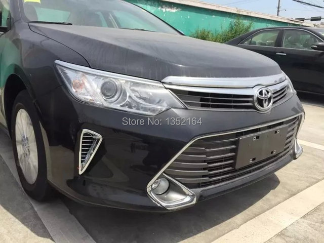 Auto exterior moulding, front air trim for Toyota Camry 2015 , ABS chrome,auto accessories,2cs/set.