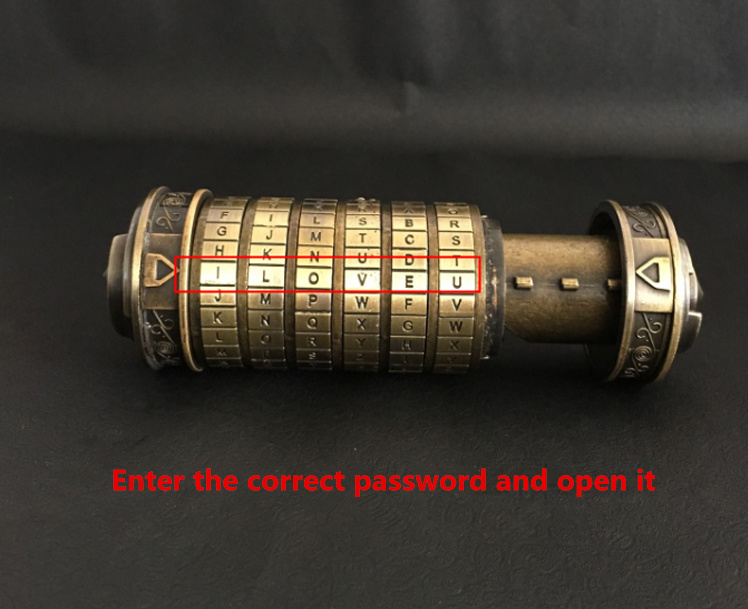 [Rigolo] mettre bague ou autre cadeau dans le Davinci Code Cryptex saint valentin cadeau anniversaire mariage Unique proposition bague LOTR gratuite - 5