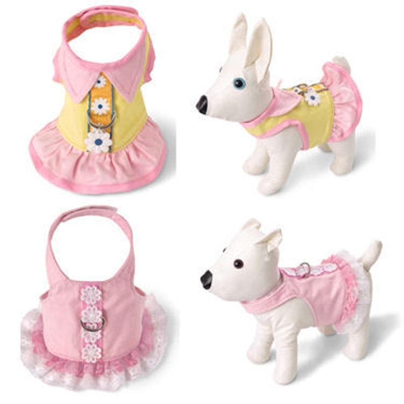 टेडी के लिए पालतू कुत्ता हार्नेस छाती बनियान कशीदाकारी स्कर्ट पिल्ला बिल्ली छाती रस्सी उच्च गुणवत्ता वाले छोटे चेस्ट पट्टा