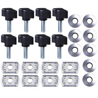 8Pcs Set Hard Top Fast Removal Screw Fastener Kit For Jeep Wrangler JK 2007 2017 Accessories
