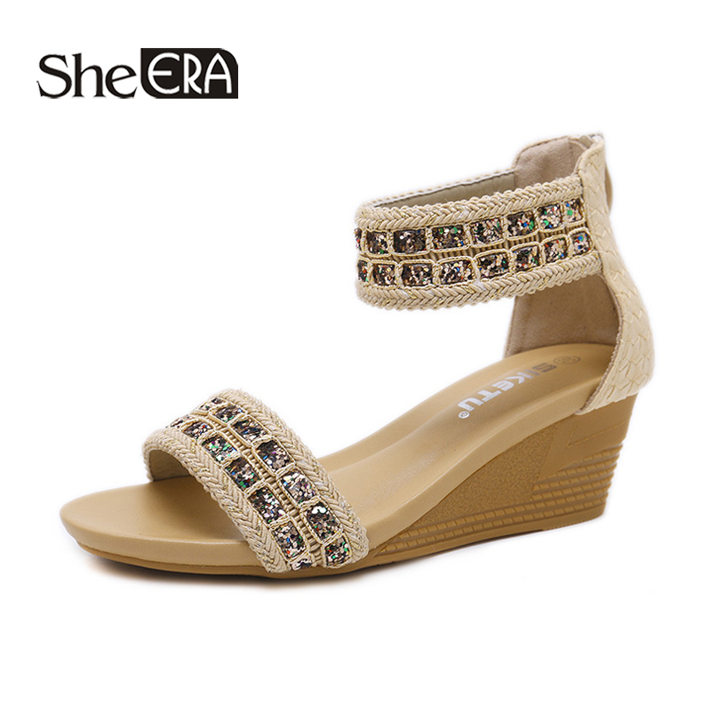 New Fashion Women Rome Sandals Gladiator Wedges Breathable Classic Shoes She ERA