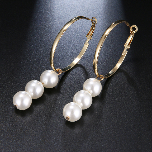 New Fashion Charm Big Simulated Pearl Long Earrings for Women Statement Drop Earrings for Wedding Party.jpg 640x640 - New Fashion Charm Big Simulated Pearl Long Earrings for Women Statement Drop Earrings for Wedding Party Office Lady Gift