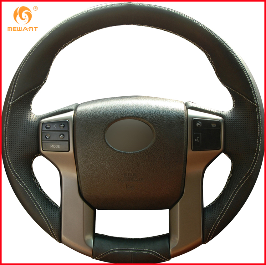 Black leather steering wheel cover for toyota land cruiser - 2013 toyota tacoma interior accessories ...