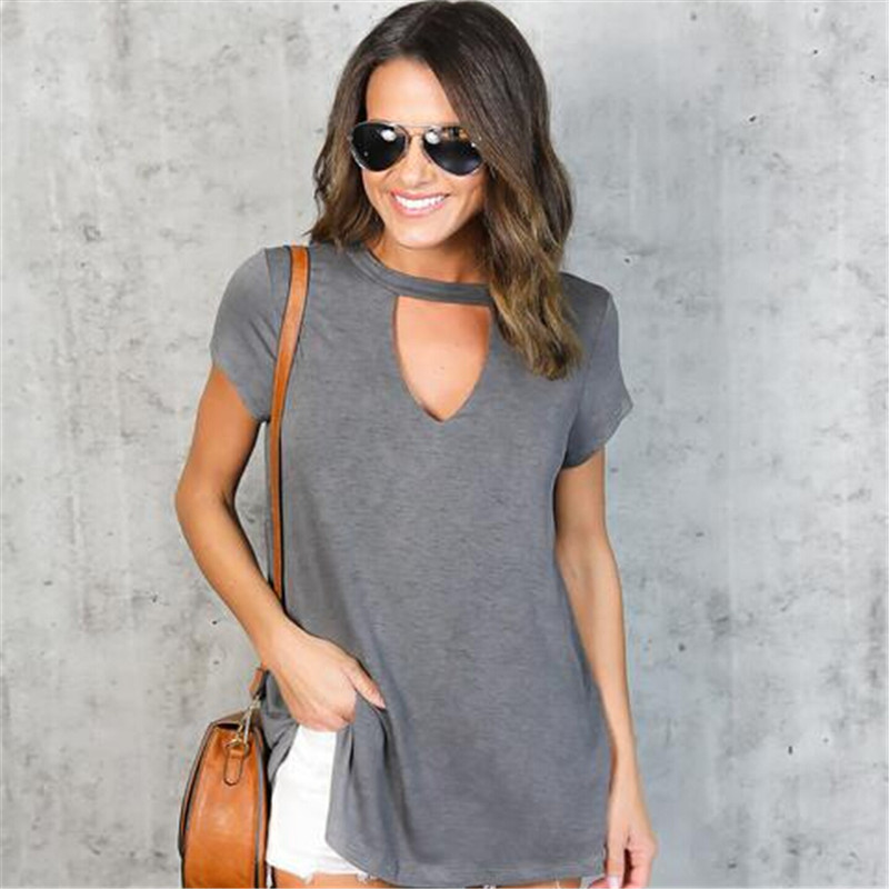 HTB1ETlsQFXXXXb6XFXXq6xXFXXXV - Women Fashion T-Shirts Summer Cotton Short Sleeve Casual