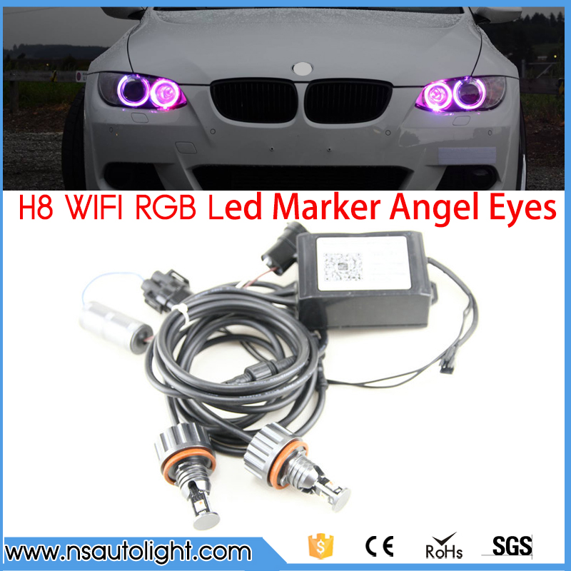 2017 New Upgrade wifi RGB E92 H8 LED angel eyes led marker lights canbus for BMW X5 E70 X6 E71 E90 E91 E92 M3 E89 E82 E87 косметика для мамы venus swirl бритва с одной сменной кассетой