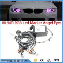 2017 New Upgrade wifi RGB E92 H8 LED angel eyes led marker lights canbus for BMW X5 E70 X6 E71 E90 E91 E92 M3 E89 E82 E87