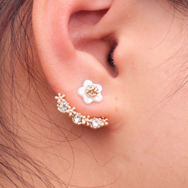 and piercings beautiful art design stud ear piercing
