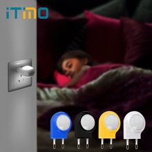iTimo Mini LED Night Light Auto Sensor Smart Lighting Control Lamp Emergency Nightlights for Baby Bedroom EU US Plug AC 100-240V
