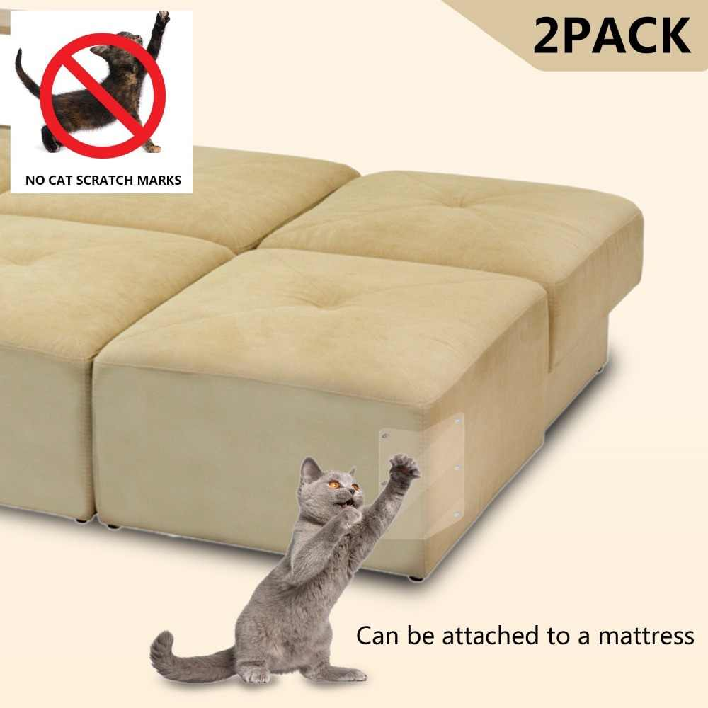 2Pcs Couch GUARD PET Cat Scratching Claw Protector Guard แผ่นแมวโพสต์เฟอร์นิเจอร์โซฟา Claw Protector สำหรับโซฟา