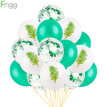 FRIGG 12inch Mixed Flamingo Balloon Round Animal Pattern Balloons Summer Latex Ballon Hawaiian Party Decor
