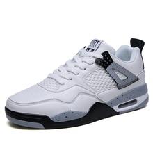 Мужская Уличная модная сетчатая обувь на плоской подошве, сезон лето-осень, черная Баскетбольная обувь на шнуровке