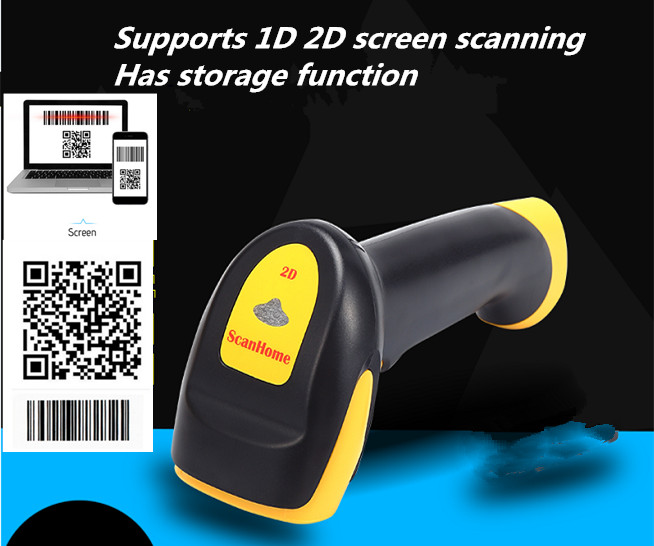 New product High quality wholesale USB wired Bar code Scanner Support scan 1D 2D code screen phone scan supermarket Retail