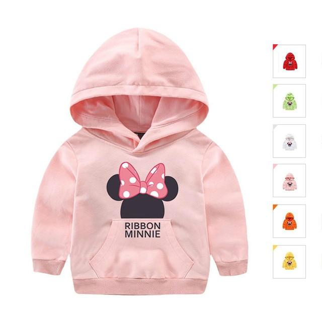 Quality 2-10T Spring Hooded Girls T-shirts Cotton Long Sleeve Cotton Cartoon Roupas Infantis Menina Fashion Bobo Choses Girl