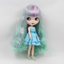 Beaukiss 12 дюймов Обнаженная Блит B Женский кукла BJD 1/6 милые большеглазая кукла с синий фиолетовый двойной челкой куклы обувь для девочек Подарки
