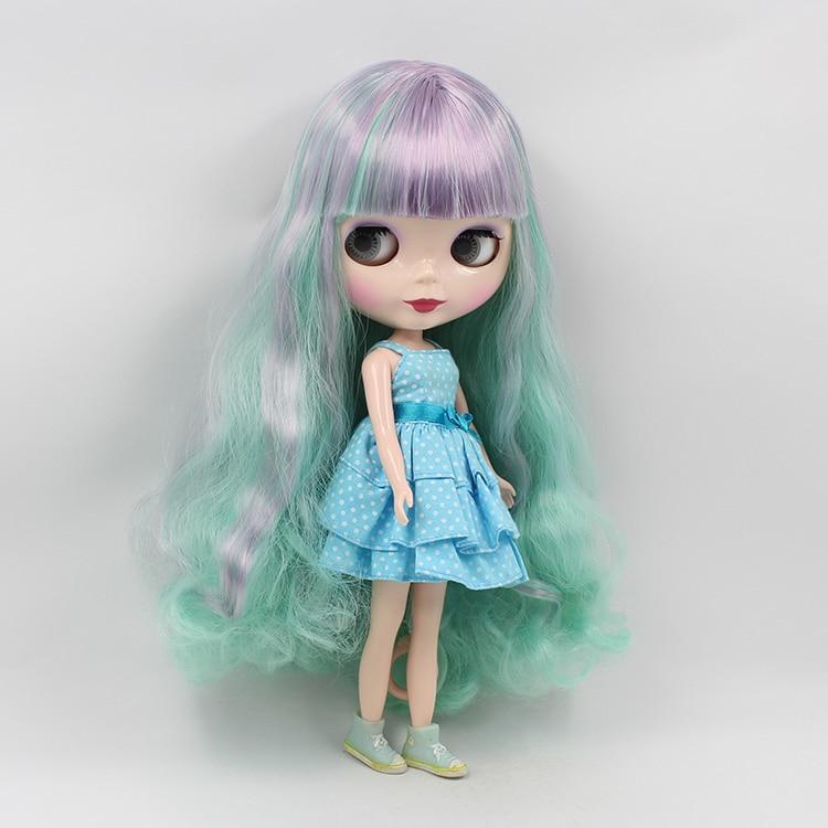 Beaukiss 12 pouces nue Blyth B femme poupée BJD 1/6 mignon gros yeux poupée avec bleu violet Double frange poupée filles cadeaux
