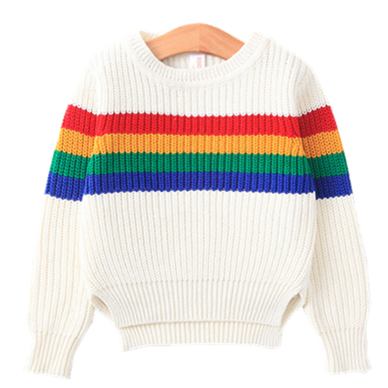 Childrens Fashion Rainbow Dreamland Knitted Sweaters cardigan kids sweater top cute girl clothes