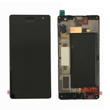 Original Für Nokia Lumia 730 735 LCD Display Touchscreen Digitizer Montage mit Rahmen Freies Verschiffen