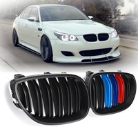 For BMW E60 2003 2004 2005 2006 2007 2008 2009 2010 Pair New Matte Black M Color Front Kidney Racing Grill Grille Replacement