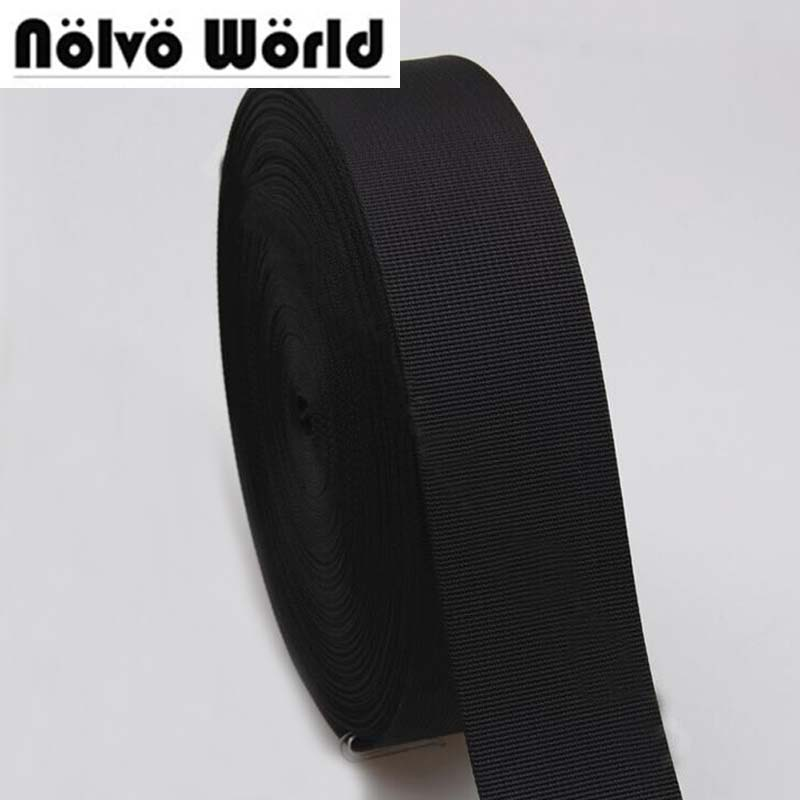 50mm 2 Inch 1.1mm Thickness Polyester Nylon Webbing Ribbon For DIY Bag Strap,weekend Bag Strap,seat Belt 10 Yards/lot